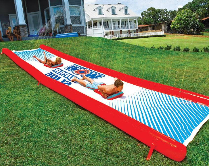 Inflatable Slip n Slide Water Slide for Backyard Kids and Ad