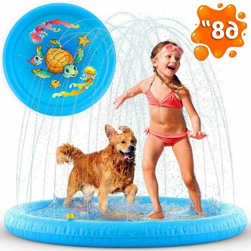 inflatable splash pad sprinkler for toddlers kids