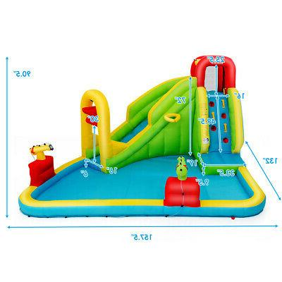 Inflatable Splash Water Bounce House Wall Blower