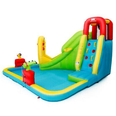 Inflatable Splash Water Bounce House Slide Wall