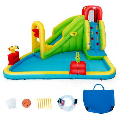 inflatable splash water park bounce house slide