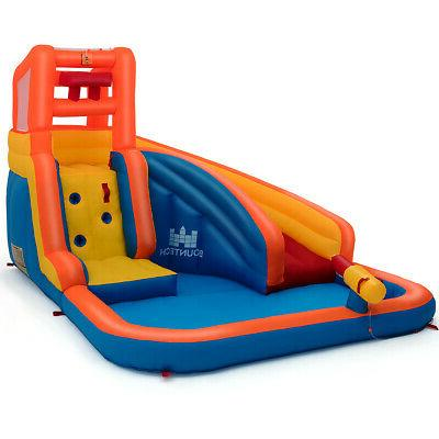 Inflatable Splash Slide House Climbing & Hose
