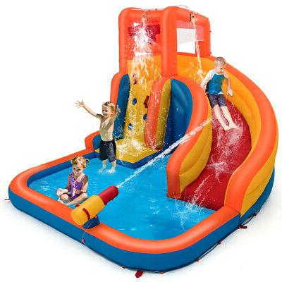 inflatable splash water bouncer slide bounce house