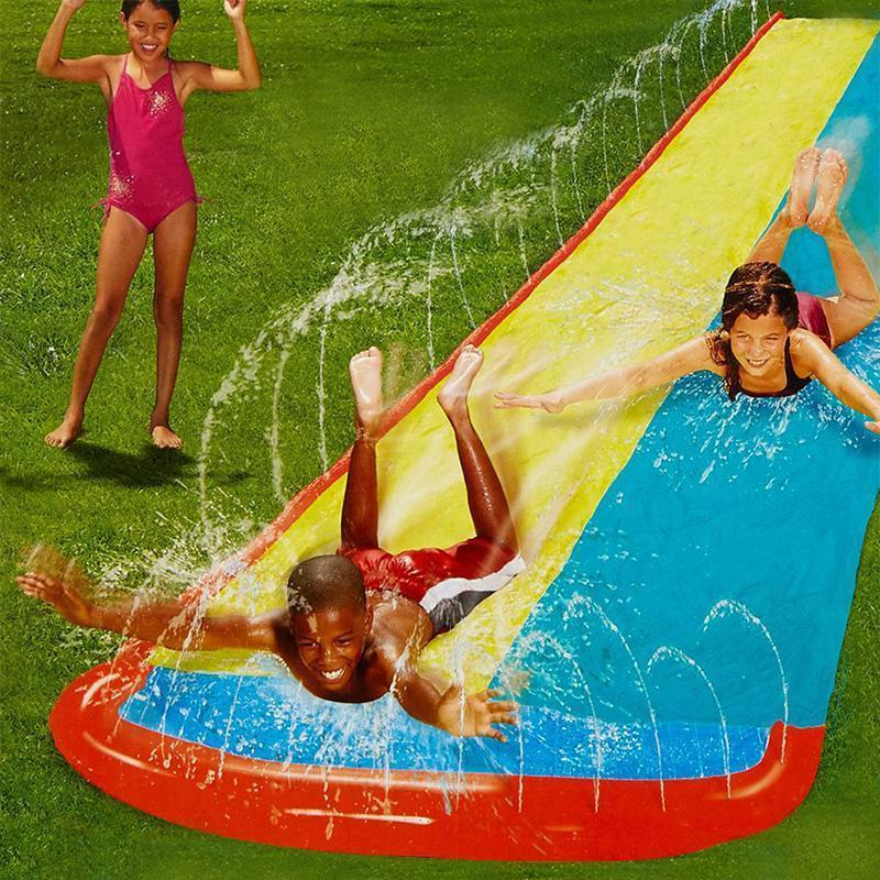 Inflatable Surf 'N 480cm Giant Single/Double Water Lawn Slides