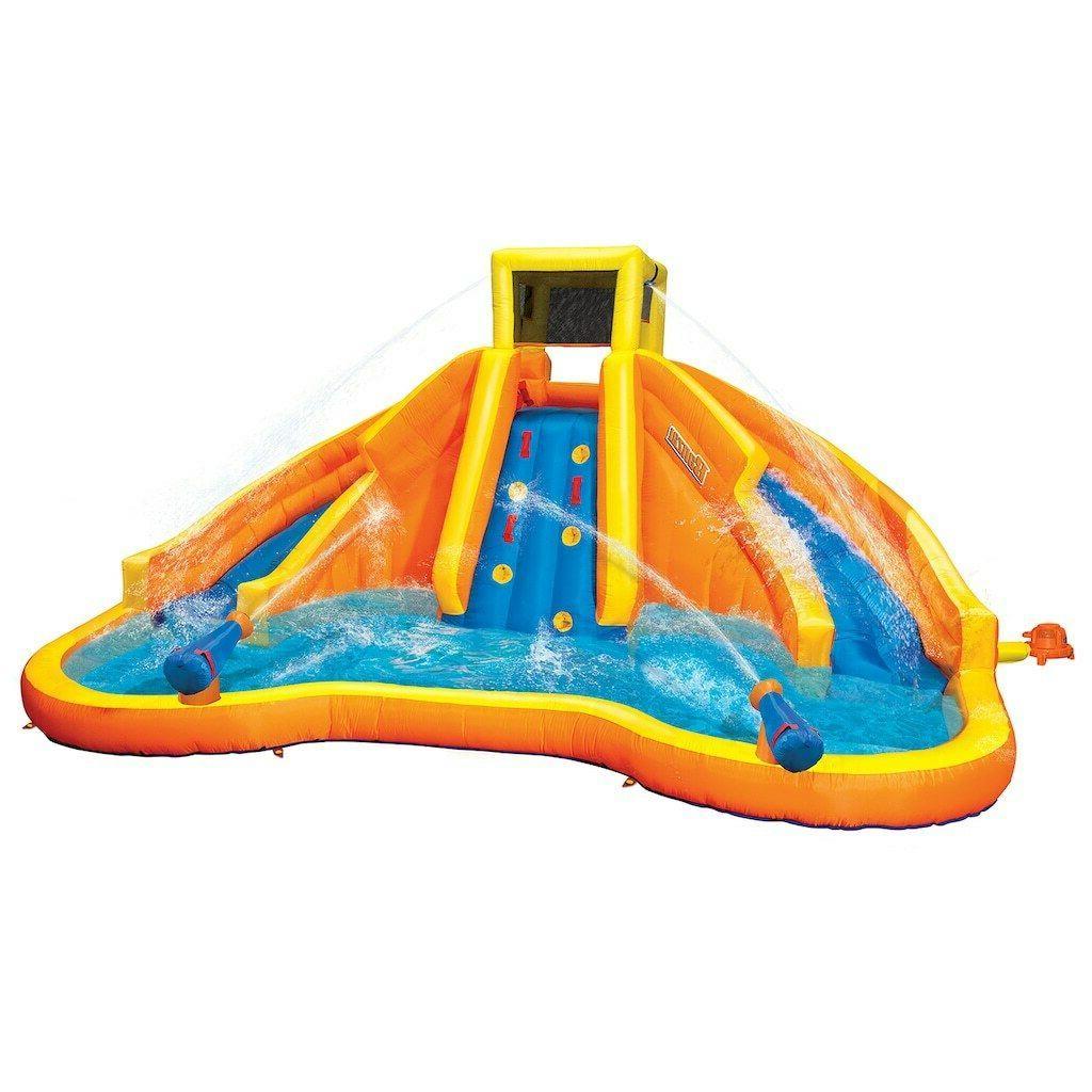 Banzai inflatable Twin Falls Lagoon Racing Water Pool/ Slide