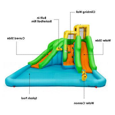 Inflatable Bounce House Bouncer w/Climbing Wall&680W