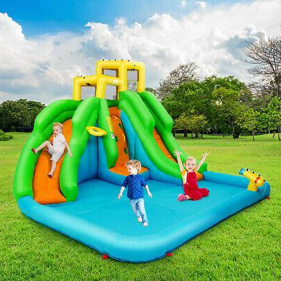 Inflatable House Wall Slides Splash Pool