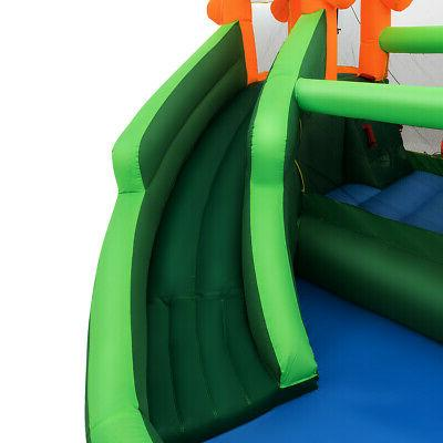 Inflatable Water Bouncer w/Climbing Wall Pool Play