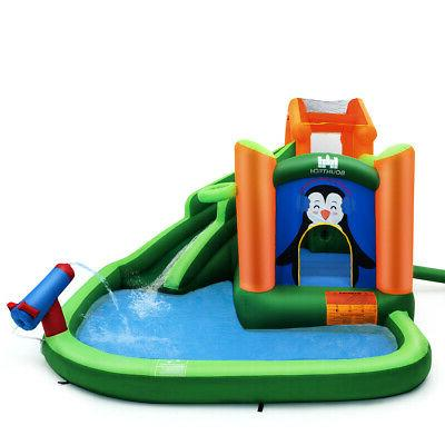 Inflatable Park Slide Bouncer Climbing Splash Pool Water Cannon
