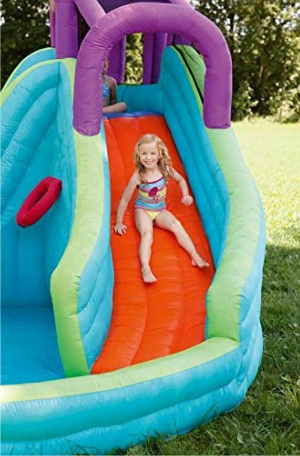 Inflatable Water Slide Big Play Splash Swimming Air Blower