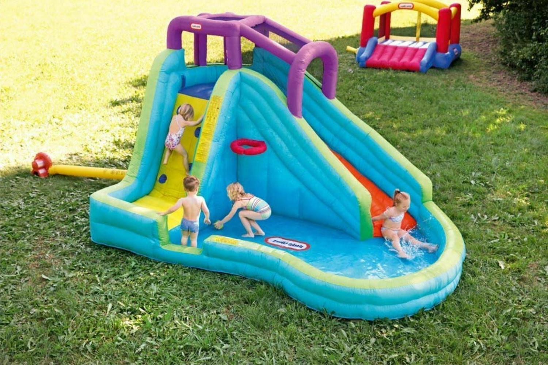 inflatable water park kids slide big play