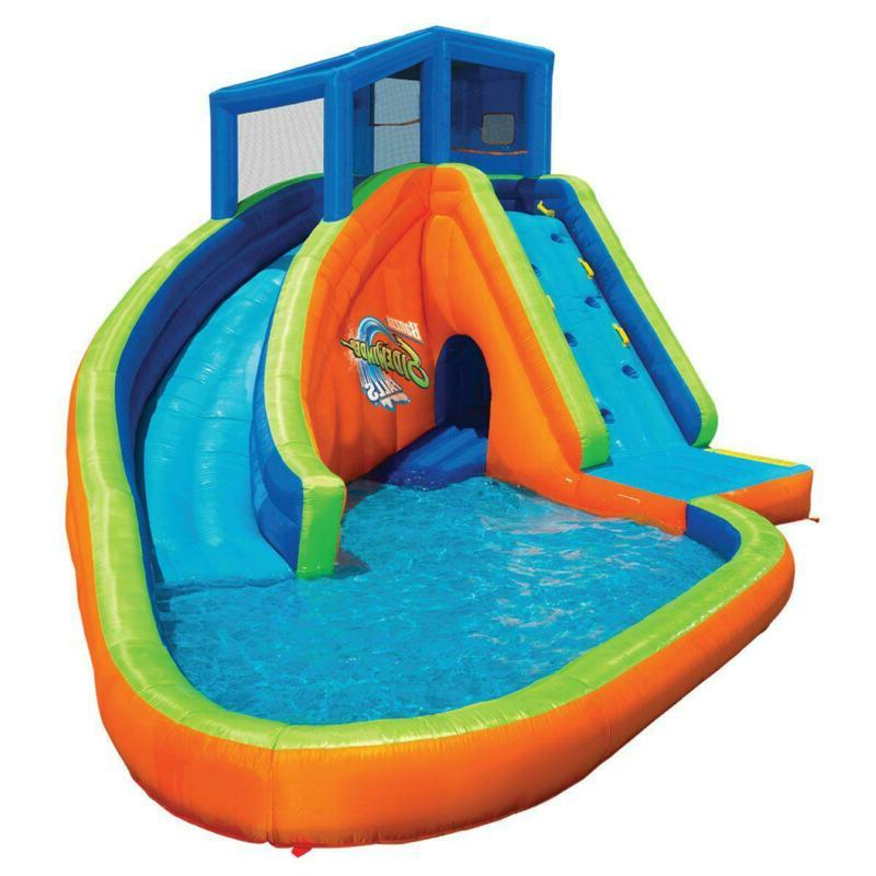 Inflatable Park Play Pool with Blower Playhouse