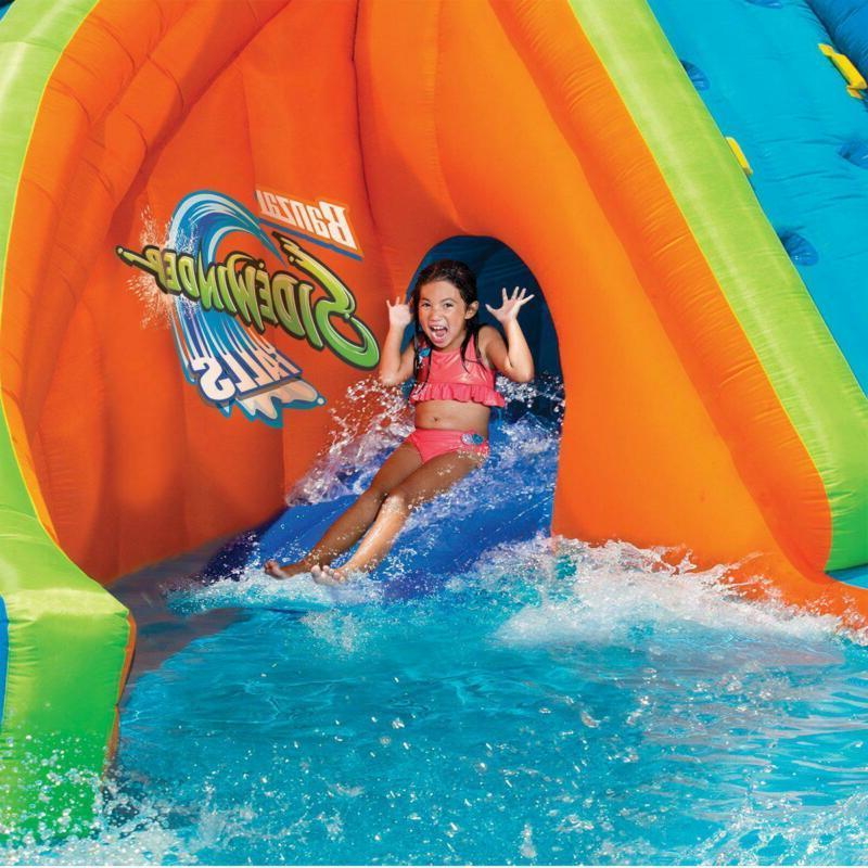 Inflatable Water Park Pool Slides Blower Backyard