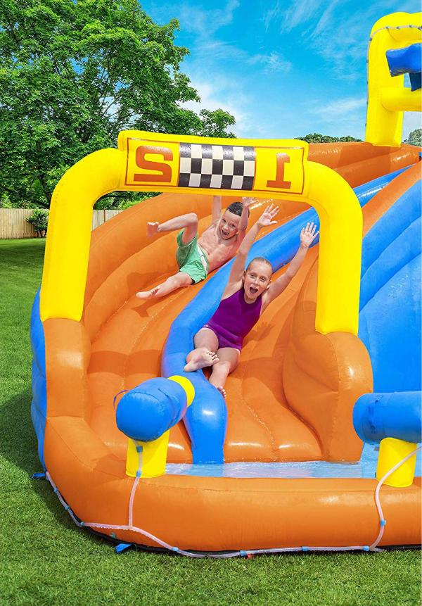 Inflatable Play Splash Slide With Water