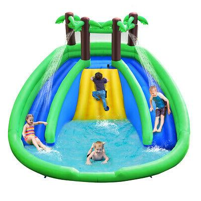 Inflatable Pool Bounce House Dual Climbing