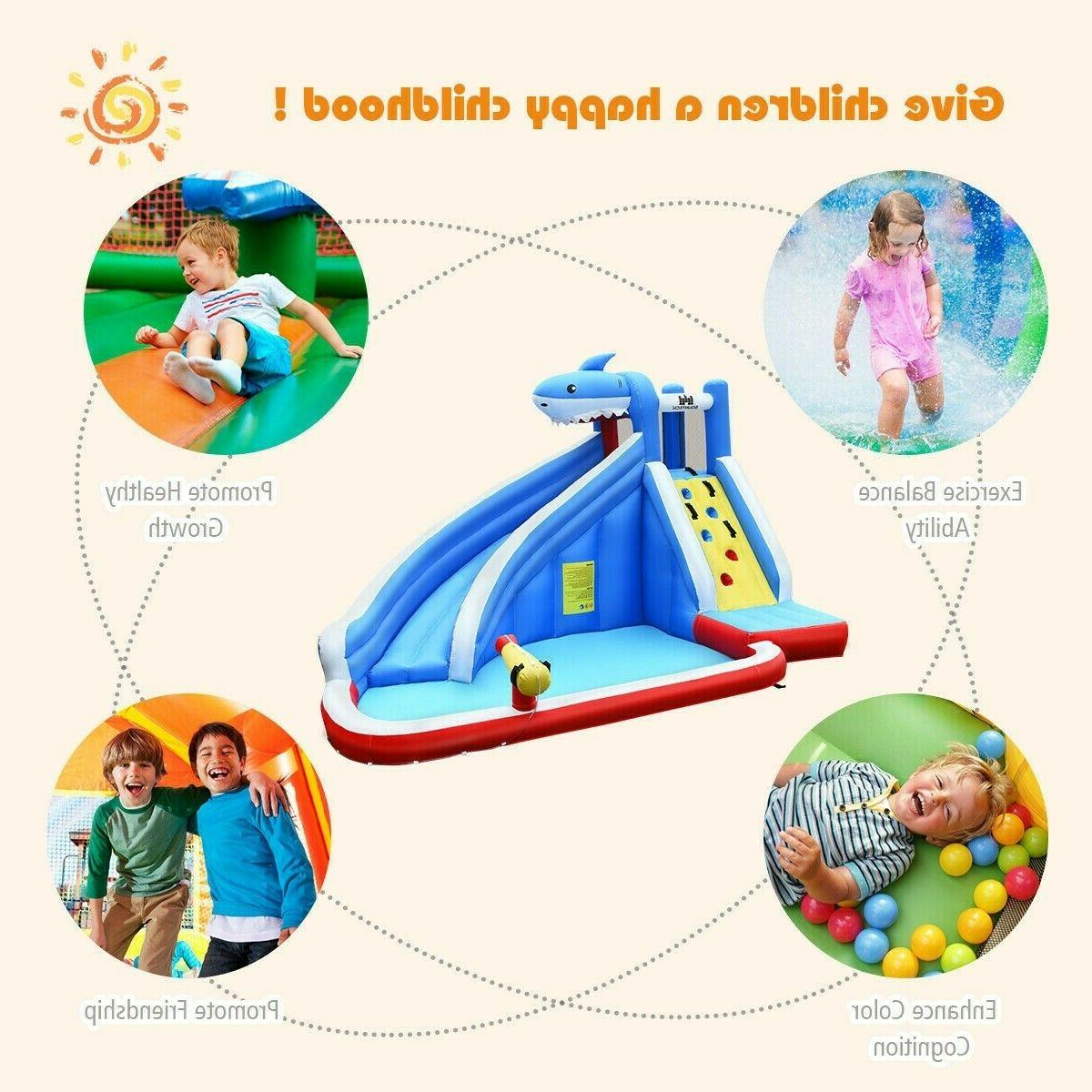 Inflatable Slide Bounce House Park Outdoor Party Blower