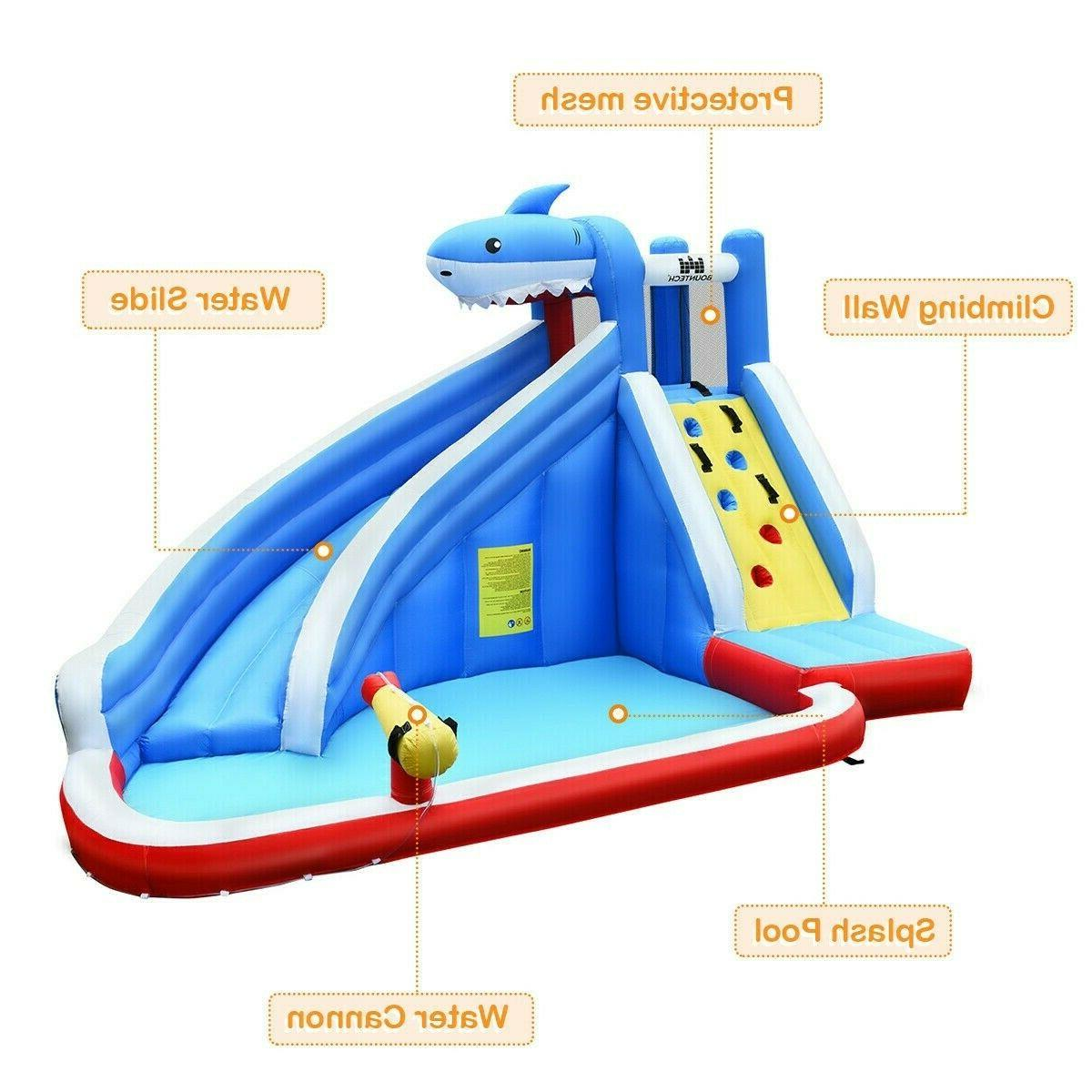 Inflatable House Outdoor Party Castle Pool w/ Blower