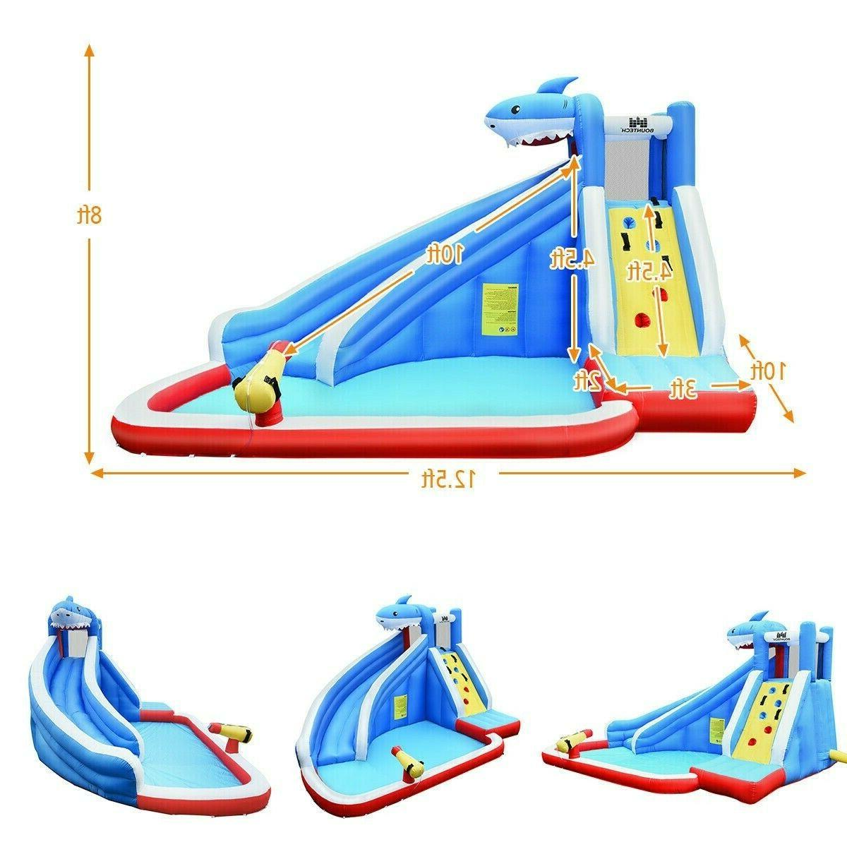 Inflatable Water Slide Bounce House Park Kid Party Castle Pool w/ Blower