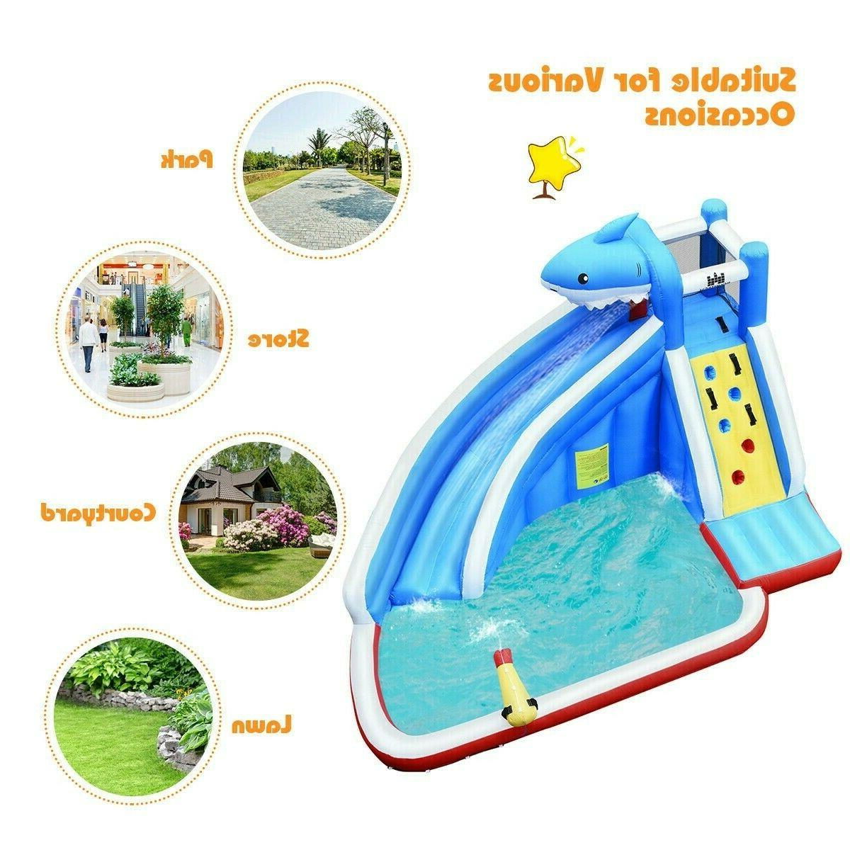 Inflatable Bounce House Outdoor Party Pool w/ Blower