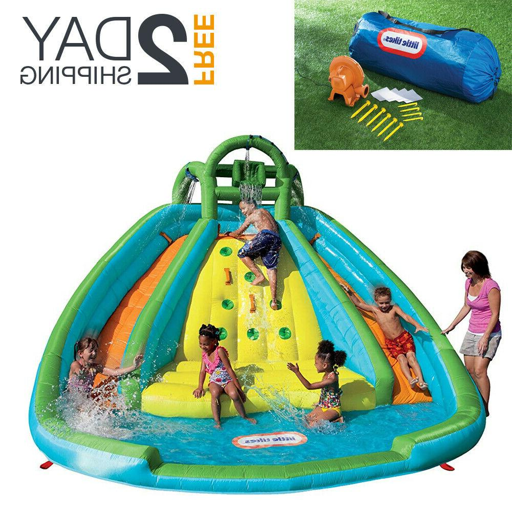 inflatable water park slide bouncer kid twist