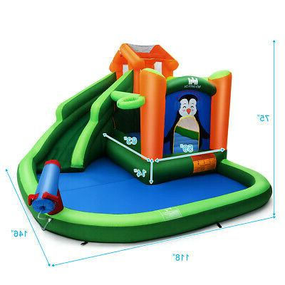 Inflatable Bouncer Wall Pool Play Cannon