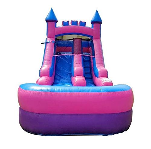 Pogo Water Slide, Tall, 21-Foot 9-Foot Crossover Pink with Included Repair Kit, and Storage Bag