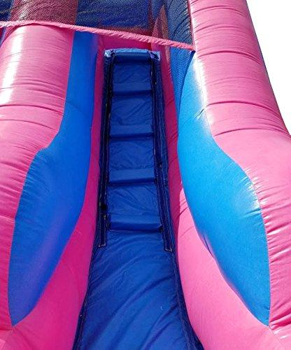 Pogo Water 21-Foot Long, 9-Foot Wide, Crossover Pink Castle with Included Stakes, Repair Bag