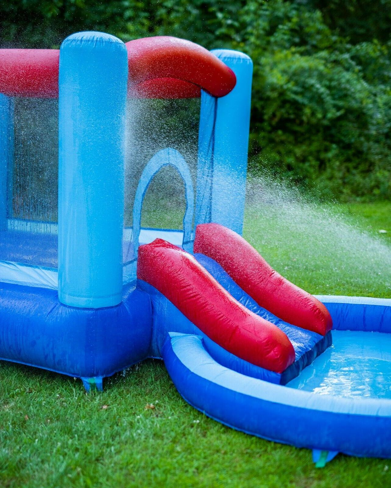 Inflatable Water Slide Bounce House and Kids