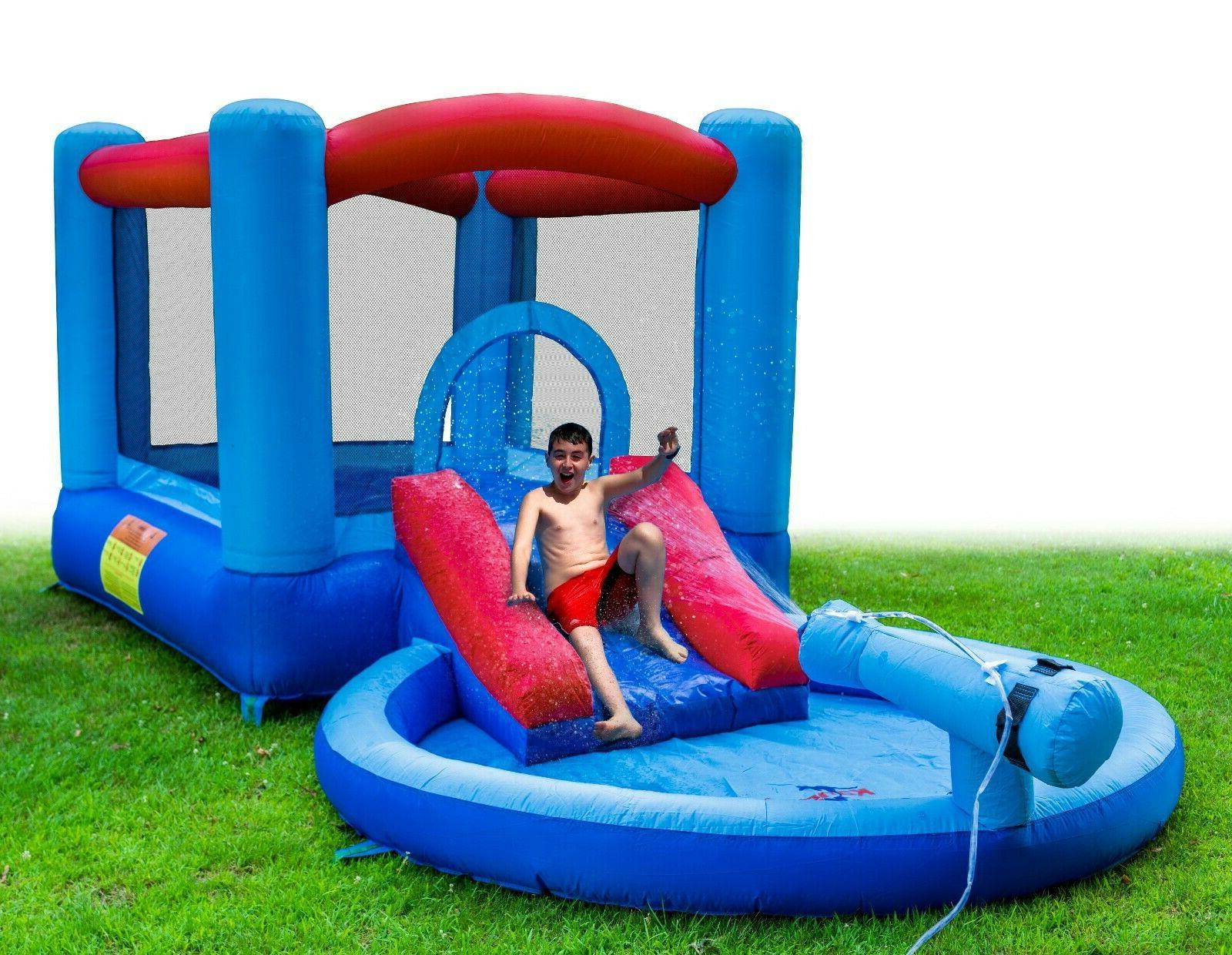 Inflatable Water Slide Bounce House and Splash Pool for Kids
