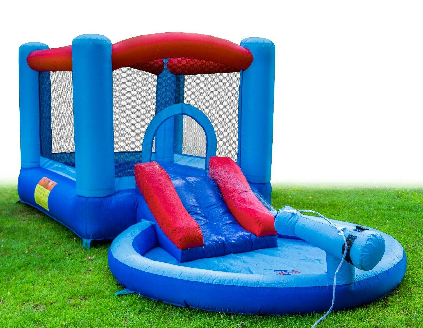Inflatable Water Slide and Bounce House and Splash Kids