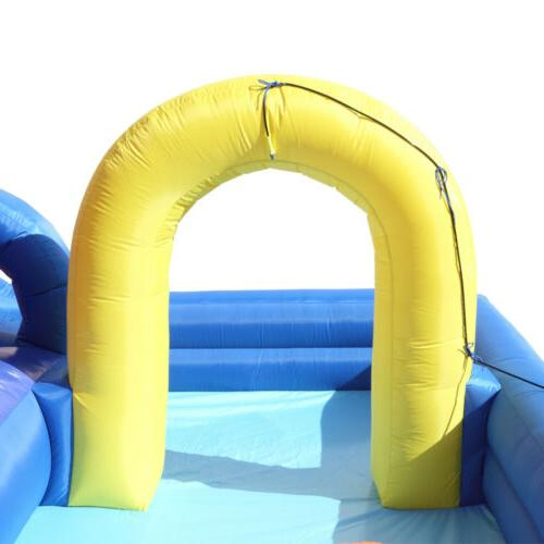 Inflatable Bouncer River Race And Hose Kids