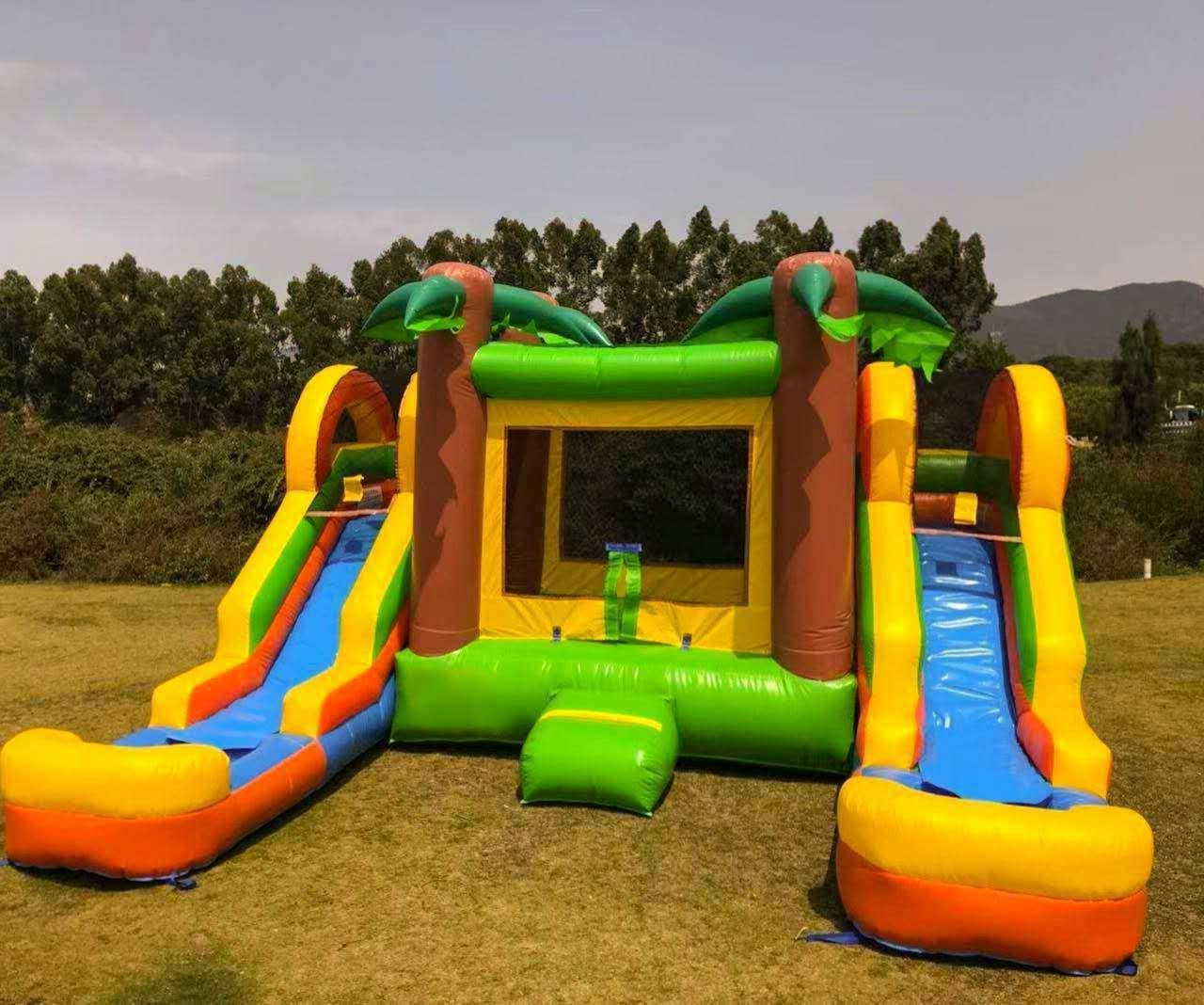 Inflatable Slide Dual 100% Commercial Grade PVC Vinyl