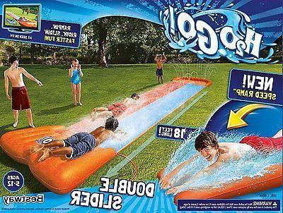 18' Inflatable Water Slide Double Pool Kids Splash Sprayer P