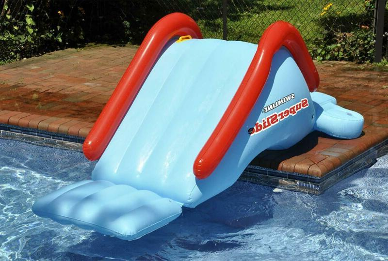 Inflatable Slide Kids Swimming Summer Swim Play Toy New