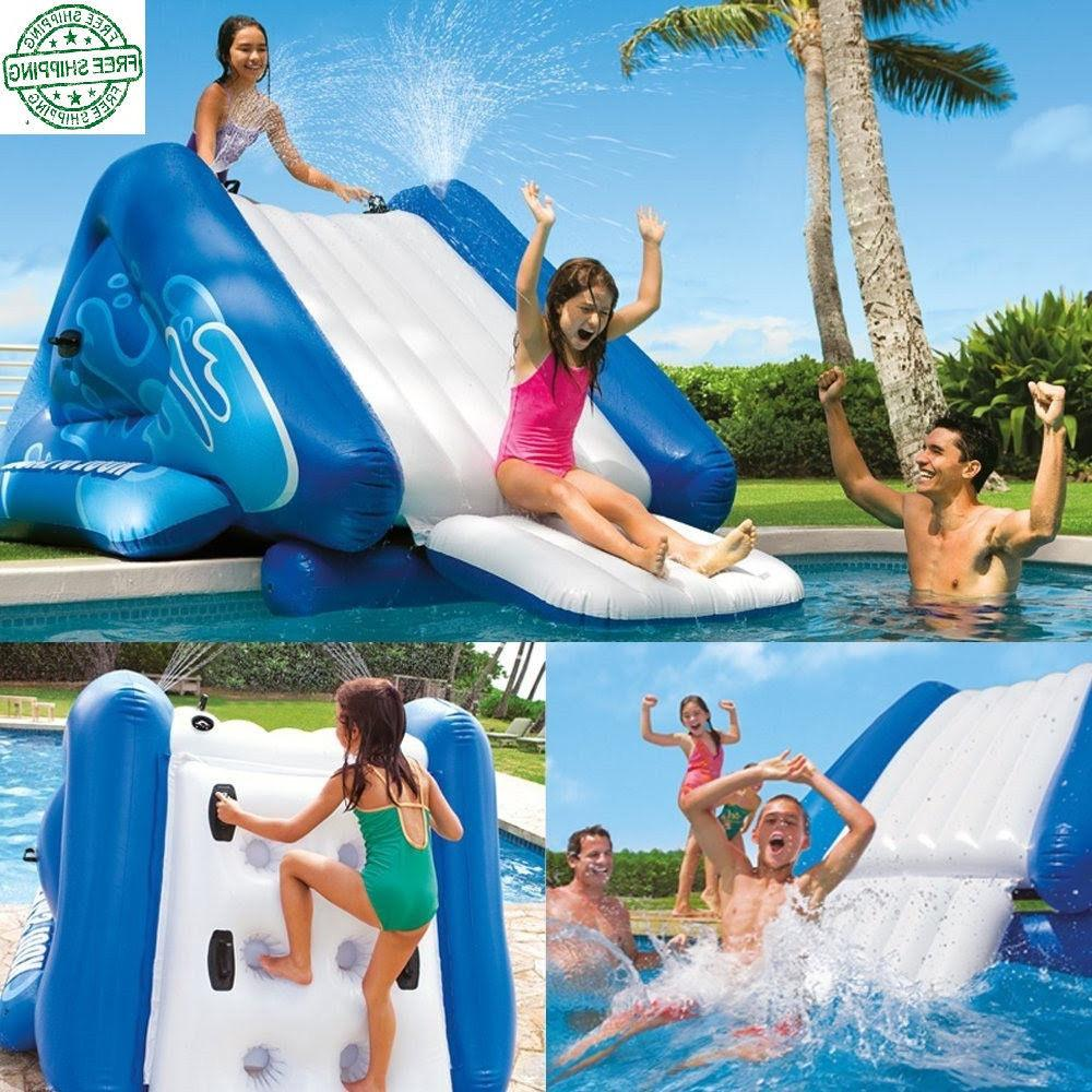 Inflatable Water Slide for Swimming Pool Outdoor Play