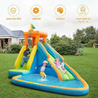 Inflatable Water Slide Bounce House Castle Splash Water Pool