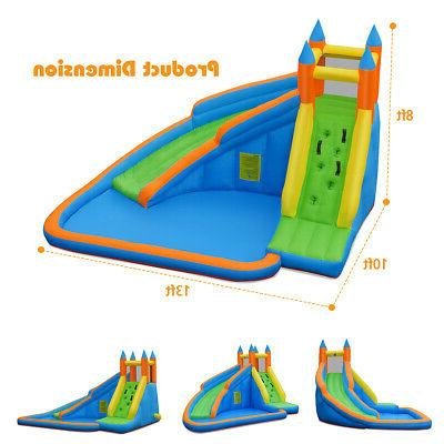 Inflatable Slide Bounce House Moonwalk Without Blower
