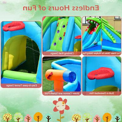 Inflatable Water Park Bounce Climbing Wall Splash Pool