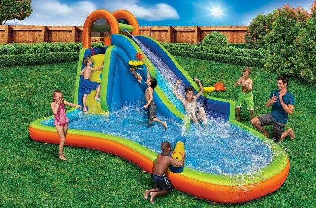 Inflatable Water Slide Pool Bounce House Bouncer Swimming Ba