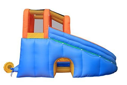 RETRO Inflatable Bouncer, Pool Climber Castle Bounce House Waterslide with