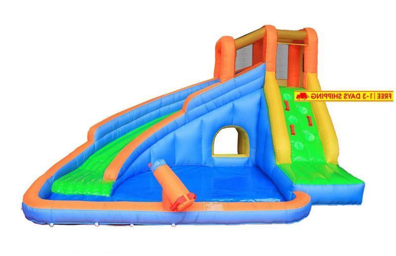 inflatable water slide pool bouncy waterslide