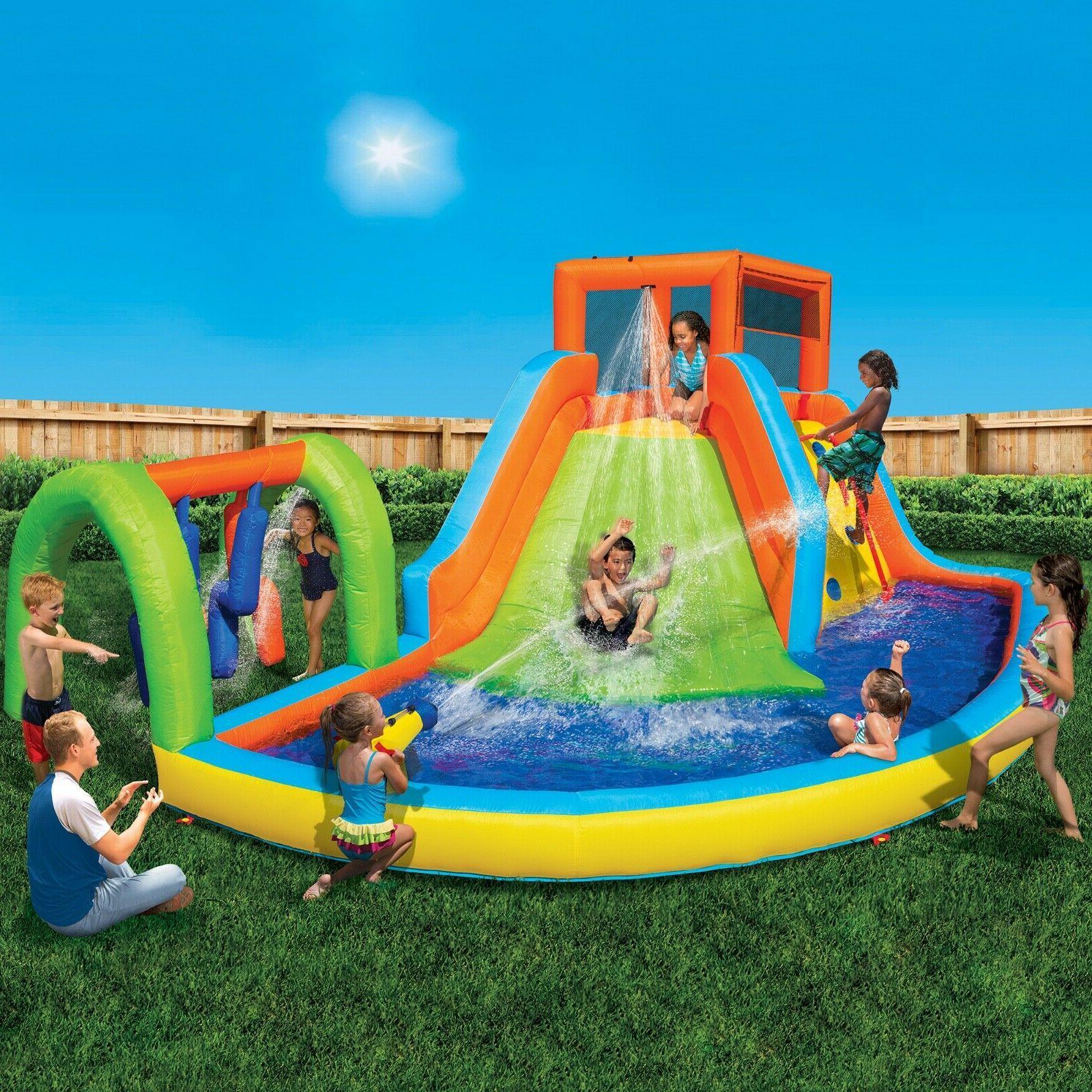 inflatable water slide summit splash adventure water
