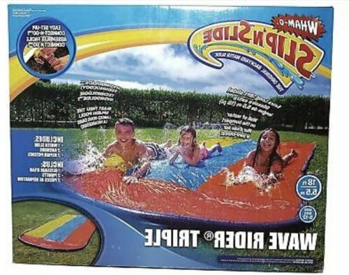 inflatable water slide triple splash backyard kids