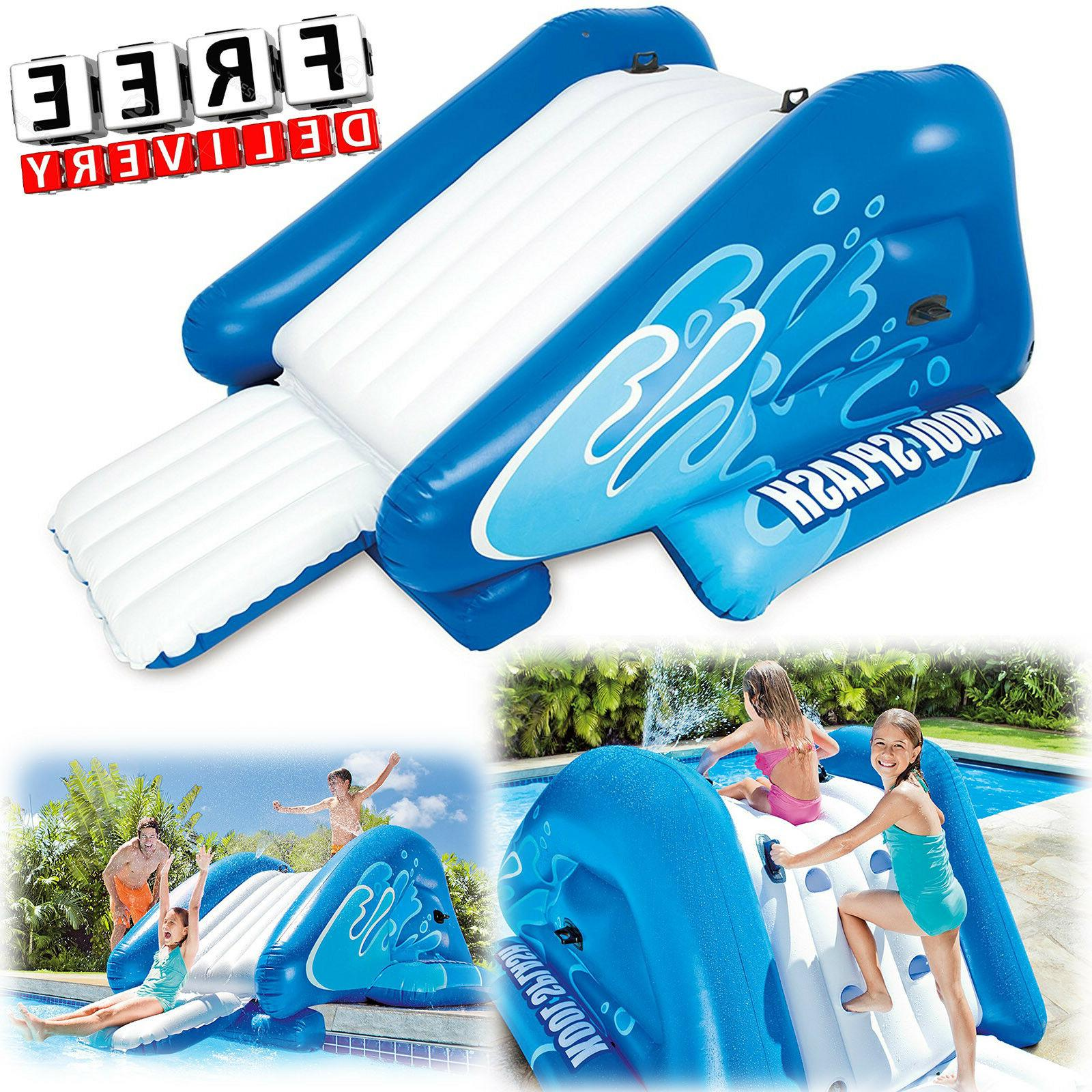 inflatable water slide w sprayer commercial outdoor
