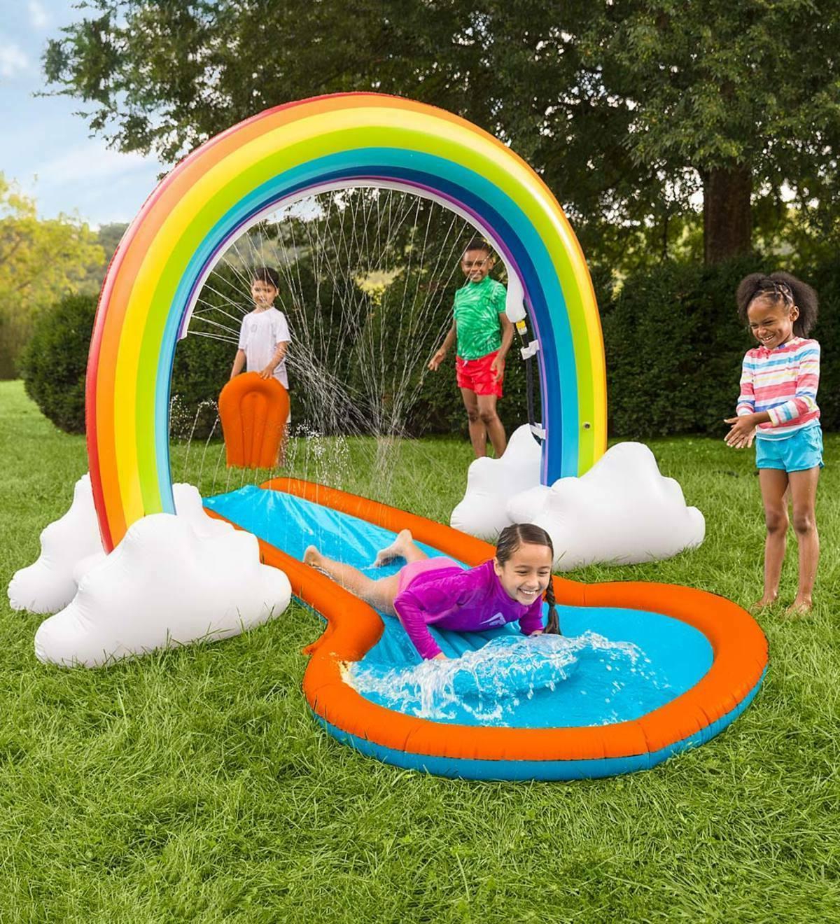 Inflatable Two Landing Lawn Fun