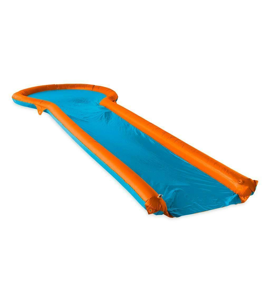 Inflatable Water Slide Two Landing Pool, Backyard Lawn