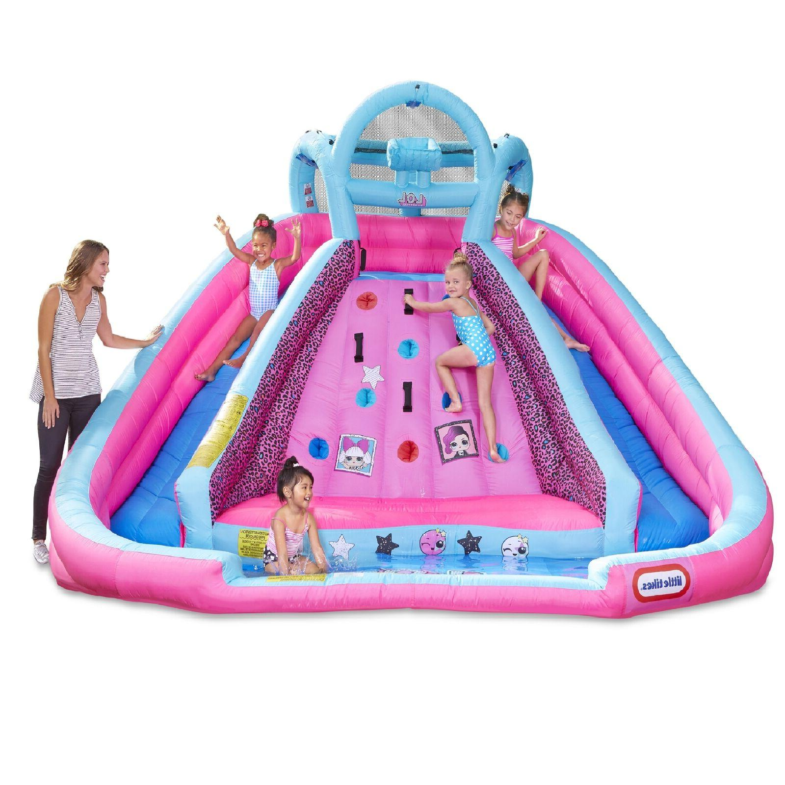 inflatable water slide wet dry climbing wall