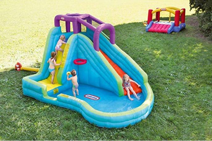 inflatable water Slide basketball continuous airflow wading pool