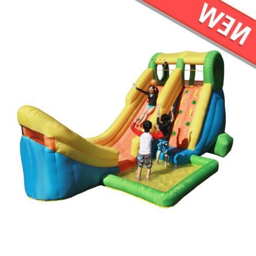 inflatable water slide with basketball hoop