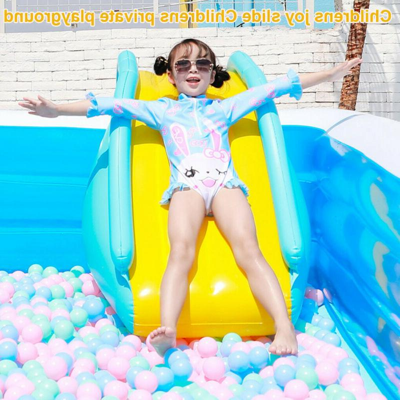 Inflatable Slides Kids Summer Air Pump Water QQ